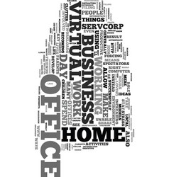 work from home with a virtual office text word vector image vector image