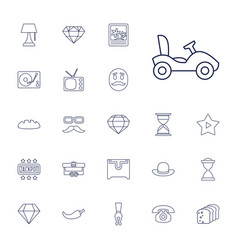22 vintage icons vector image
