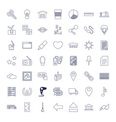 49 button icons vector