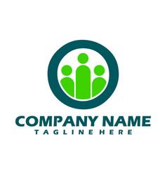 abstract community logo icon design creative vector image