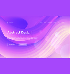 abstract geometric futuristic wave shape web page vector image