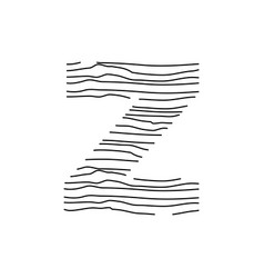 Abstract line initial z vector