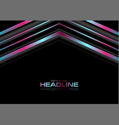 Abstract technology holographic metal arrows vector