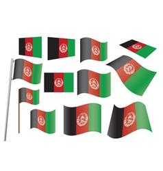 afghanistan flag vector image