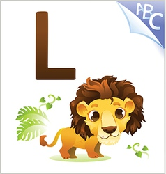 Animal alphabet for the kids for the Lion vector image