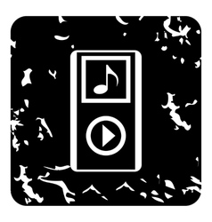 Audio player icon grunge style vector