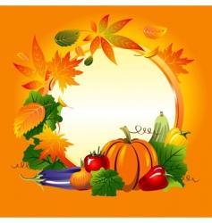 Autumn collection four seasons vector