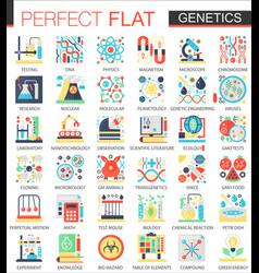biochemistry biology genetics complex flat vector image