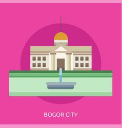 Bogor city conceptual design vector