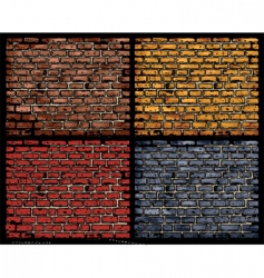 brick walls vector image