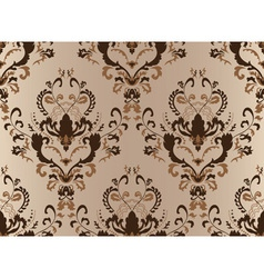 Brown damask seamless vector