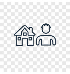 builder concept linear icon isolated on vector image