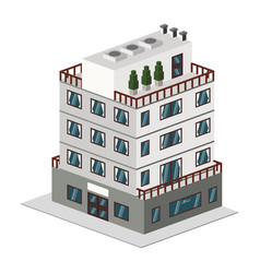 building hotel tourism vector image