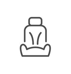 car seat line icon vector image