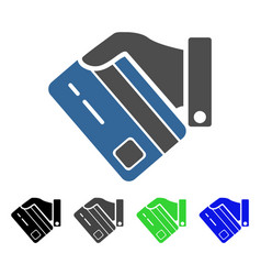 Card payment flat icon vector