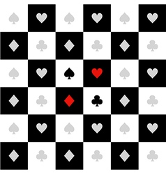 Card Suits White Black Chess Board Diamond vector