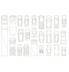 cars and trucks various automobiles and trucks vector image