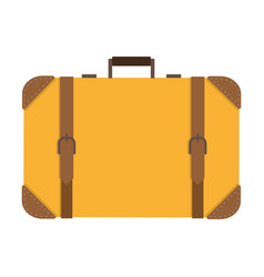 classic square suitcase vector image