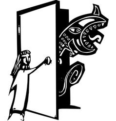 Closet Monster vector image