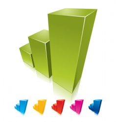 colorful graphs growing up vector image