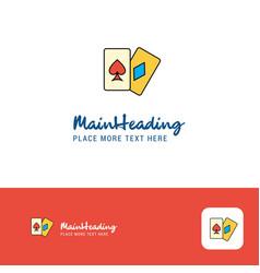 creative poker logo design flat color logo place vector image