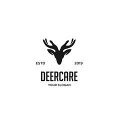 deer care logo vector image