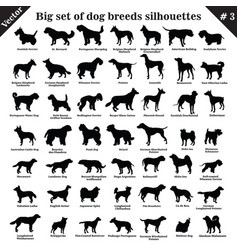 Dogs silhouettes 3 vector