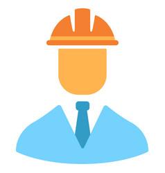 engineer flat icon vector image
