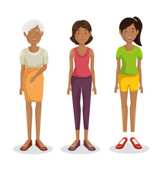 family group characters icon vector image