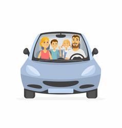 Family trip - cartoon people character isolated vector