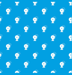 fire alarm pattern seamless blue vector image