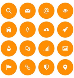 Flat icon set for web and mobile Email and web vector