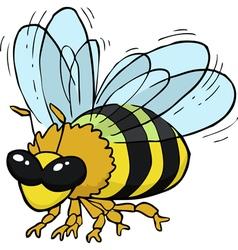 Flying bee vector