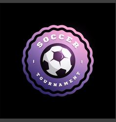 football soccer circular logo modern professional vector image