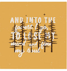 forest adventure graphic for t-shirt prints vector image