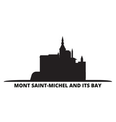 France mont saint michel and its bay landmark vector