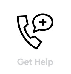 Get help protection measures icon editable line vector