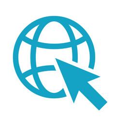 go to web icon isolated modern flat pictogram bu vector image