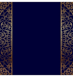 gold ornate border vector image