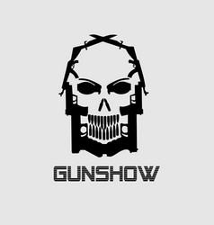 Guns-skull vector