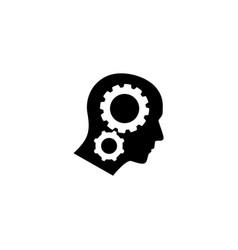 Head gear cog logo icon vector