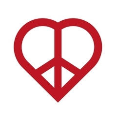 Heart shape icon Love and Peace design vector