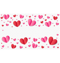 hearts pattern background for valentines day or vector image