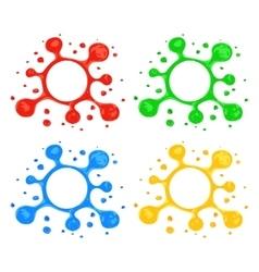 Highlighter Blot Design Elements vector