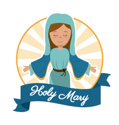 Holy mary mother miracle salvation image vector