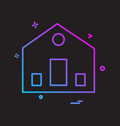 home icon design vector image