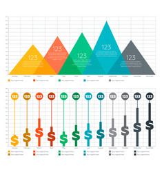 infographic elements - bar and triangle chart vector image vector image
