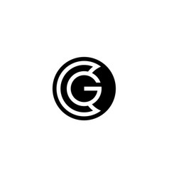 initial letter c g logo template with modern coin vector image