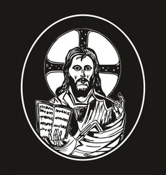 Jesus and bible vector