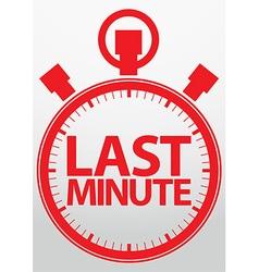 Last minute stopwatch icon vector